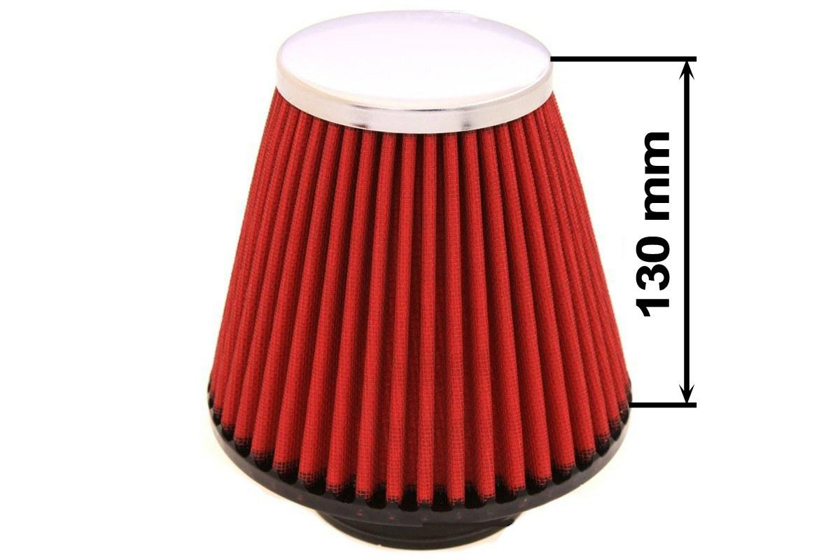 Filtr stożkowy SIMOTA JAU-X02108-05 60-77mm Red - GRUBYGARAGE - Sklep Tuningowy